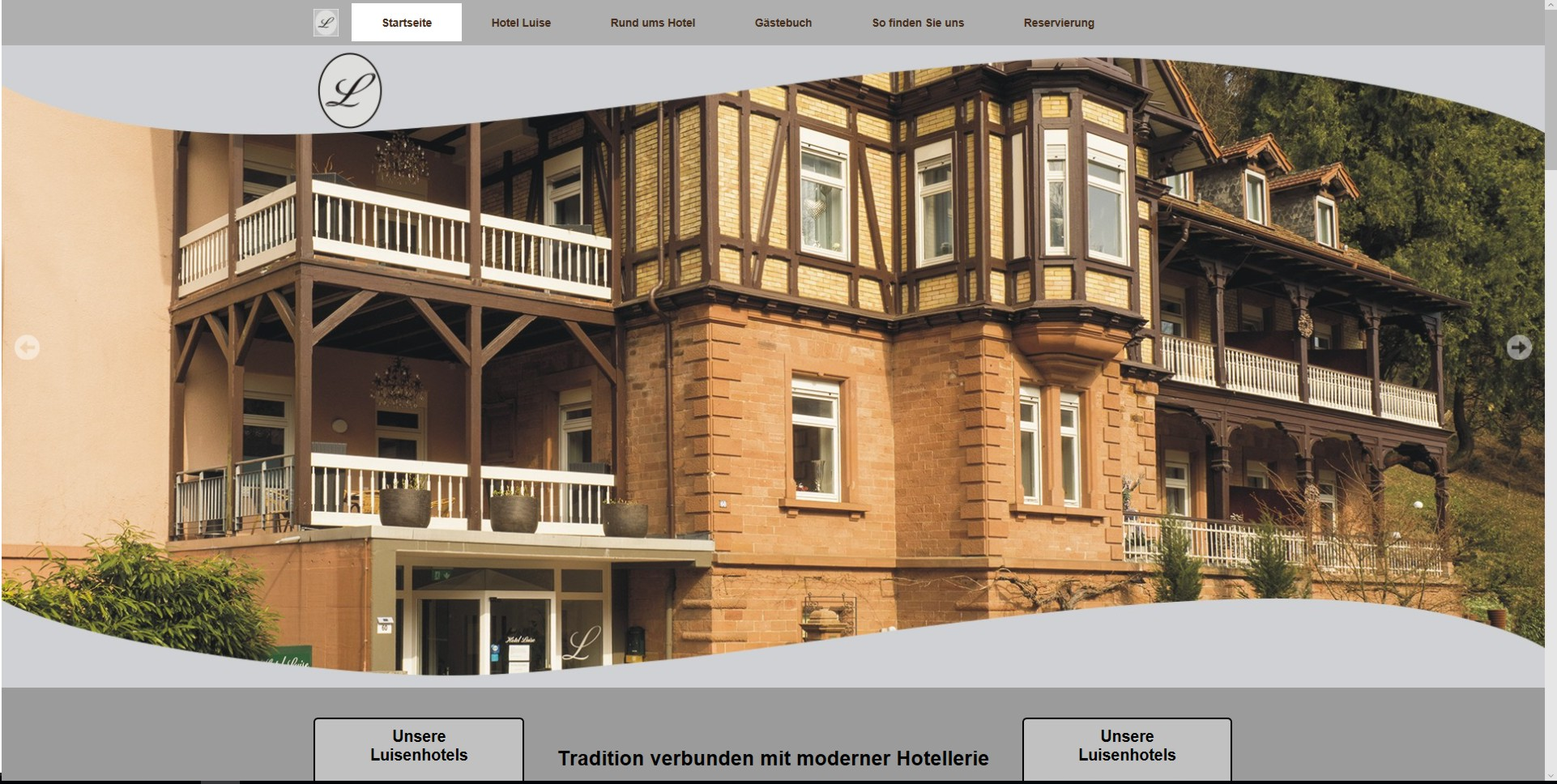 Bild Website Hotel Luise - Bad-Bergzabern