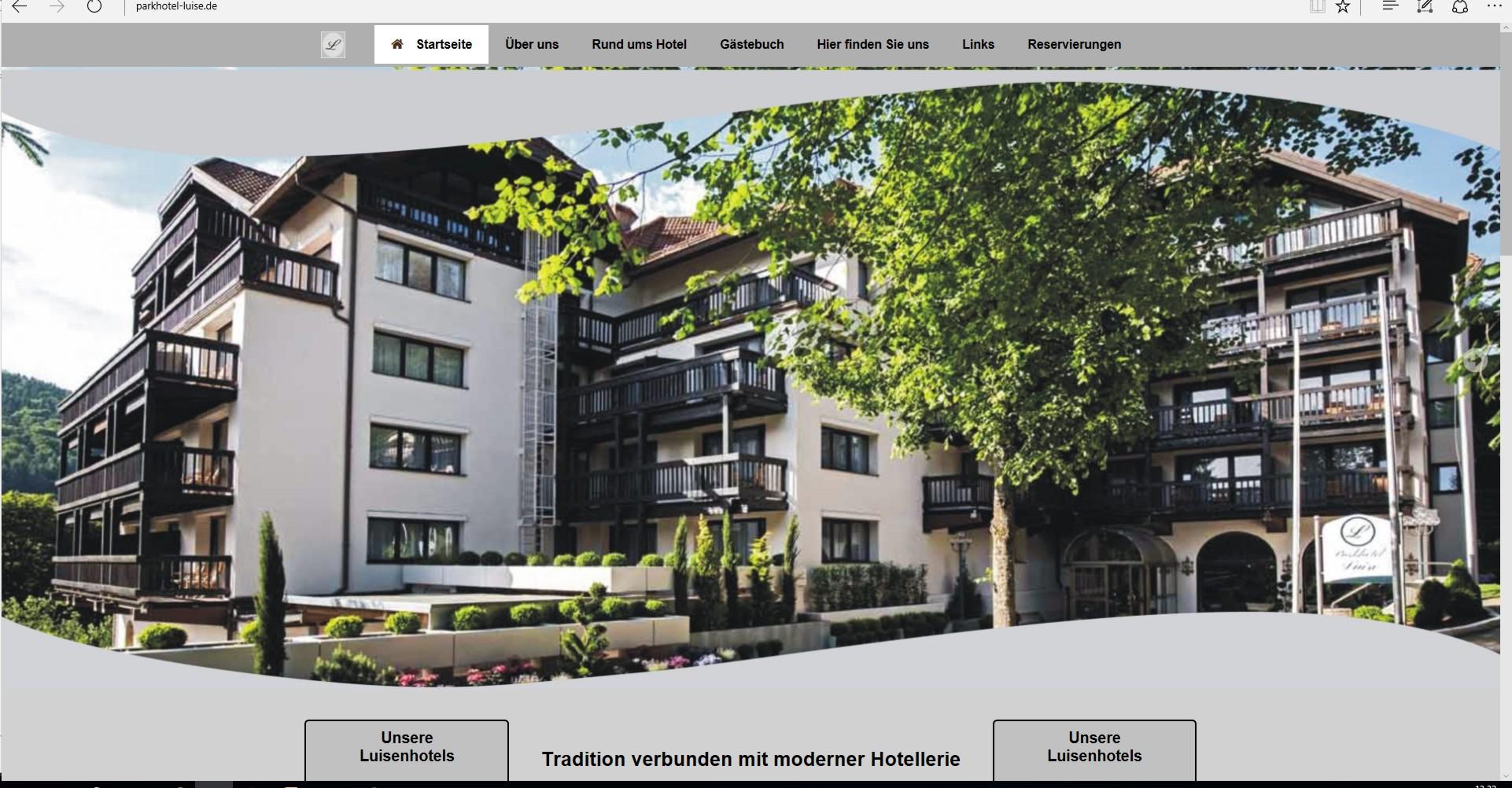 Bild Website Parkhotel Luise Bad Herrenalb