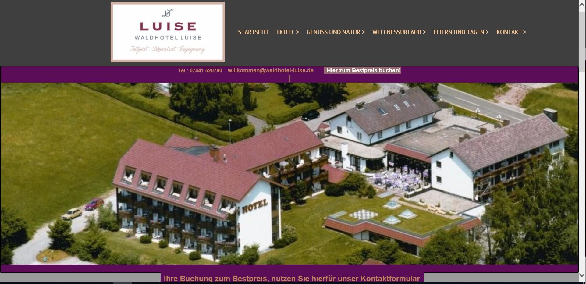 Bild Website Waldhotel Luise Freudenstadt